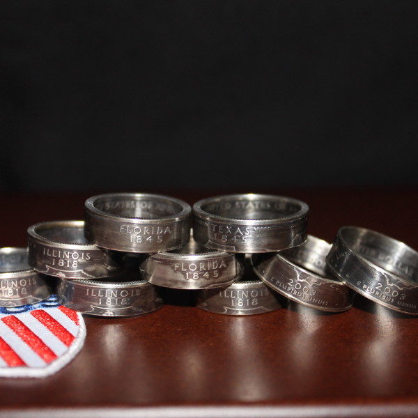 us state quarter coin ring from let freedom rings